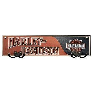 Cabideiro de Parede Harley Davidson Laranja