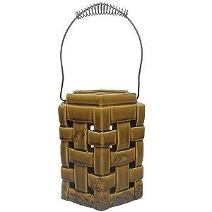 Lanterna Decorativa Vazada Marrom