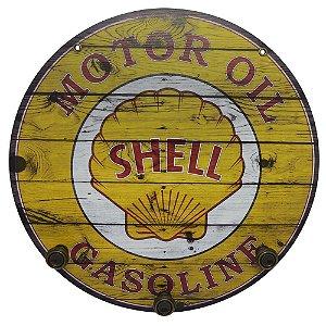Placa Redonda Shell Grande com Cabideiro