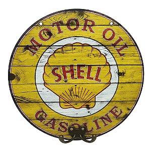Placa Redonda Shell com Cabideiro