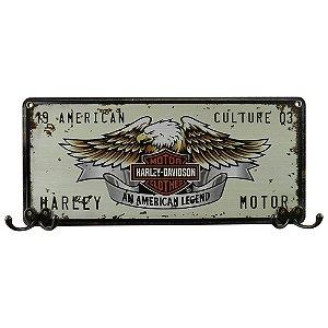 Cabideiro de Parede de Madeira Placa Da Harley