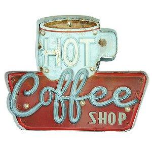 Placa de LED Hot Coffee Shop