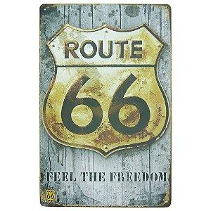 Placa em Metal Feel The Freedom