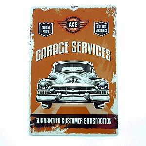 Placa em Metal Ace Car