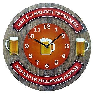 Relógio de Parede Não É o Melhor Churrasco