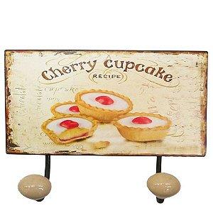 Cabideiro de Parede Cherry Cupcakes