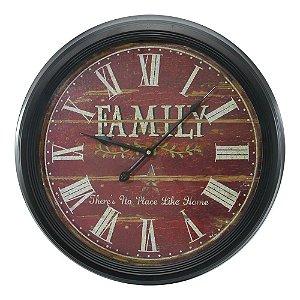 Relógio de Parede Grande Family
