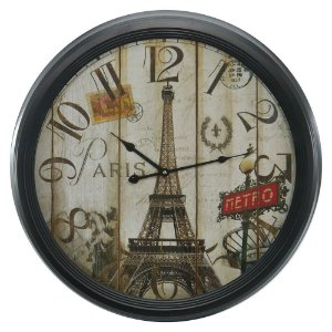 Relógio de Parede Torre Eiffel Grande