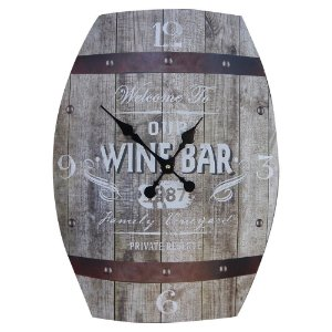 Relógio Rústico Barril Wine Bar