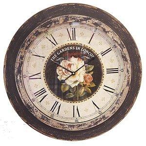 Relógio Redondo Rosas