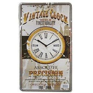 Relógio de Parede Clock de Metal