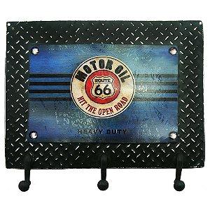 Cabideiro de Parede Route 66 Azul