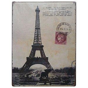 Placa em Metal Paris