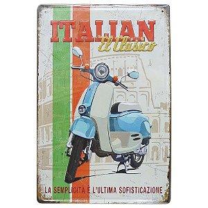 Placa em Metal Italian Lambreta
