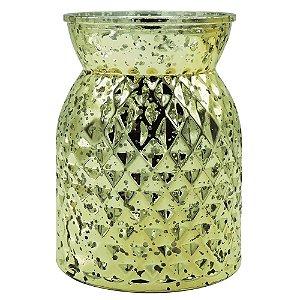 Vaso de Vidro Amarelo
