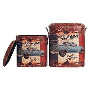 Jogo C/2 Banquetas Vintage Garage