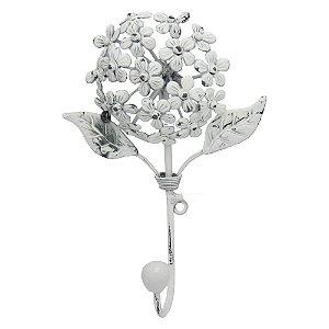 Cabideiro de Parede Flor Branca