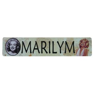 Placa em Metal Decorativa Marilyn