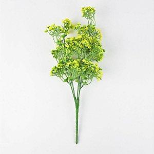 Flor Permanente Amarela e Verde