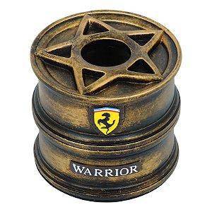 Porta Papel Roda Warrior Dourado