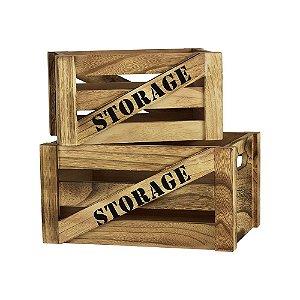Jogo 2 Caixotes Storage P