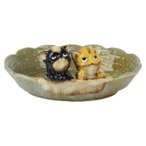 Porta Objetos de Cerâmica Gatinhos