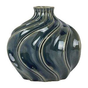 Vaso de Cerâmica Split Azul