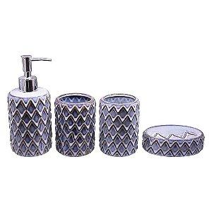 Kit Banheiro Asteca Azul