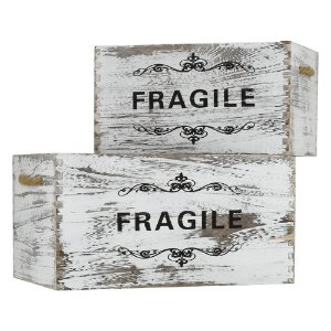 Jg C/2 Caixas Fragile Grande