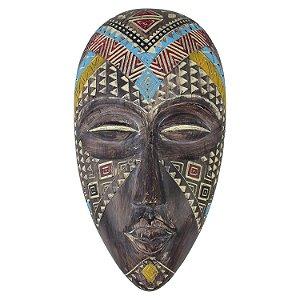 Enfeite de Parede Mascara Africana em Resina Médio