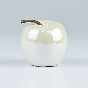 Enfeite Apple Branco em Cerâmica