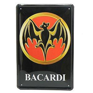Placa em Metal Bacardi