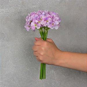 Flor Permanente Hortência Rosa