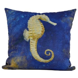 Almofada Náutica Cavalo Marinho Azul