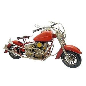 Moto Chopper Vermelha