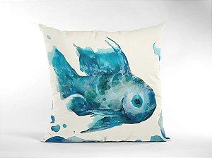 Capa Náutica Peixe Azul para Almofada
