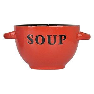 Bowl Soup Vermelho em Cerâmica