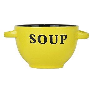 Bowl Soup Amarelo em Cerâmica
