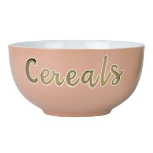 Bowl Cereals Rosa em Cerâmica