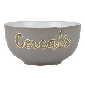 Bowl Cereals Cinza em Cerâmica