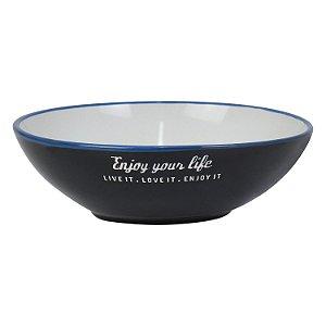 Bowl Enjoy Your Life Preto