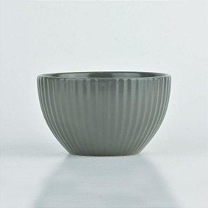 Bowl Lines Cinza em Cerâmica