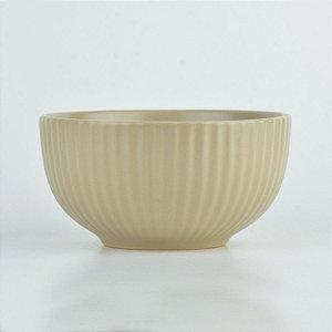 Tigela Texturizada Bege em Cerâmica