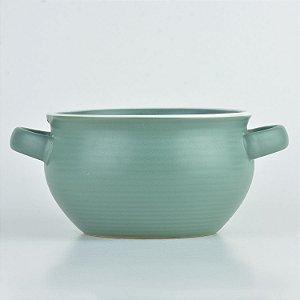 Bowl Cauldron Verde em Cerâmica
