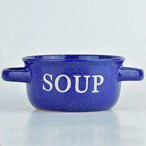 Tigela Soup Azul em Cerâmica