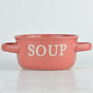 Tigela Soup Rosa em Cerâmica