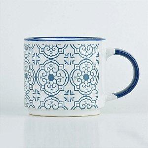 Caneca Branca Mandala em Cerâmica