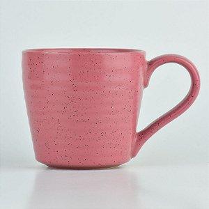 Caneca Granite Rosa em Cerâmica