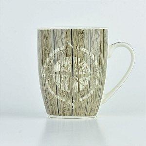 Caneca Nautica Bússola em Cerâmica