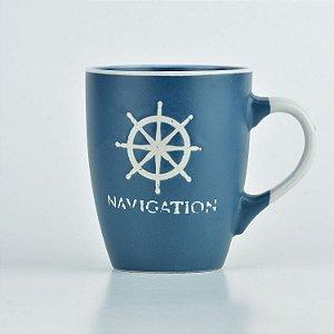 Caneca Azul Nautica Timão em Cerâmica
